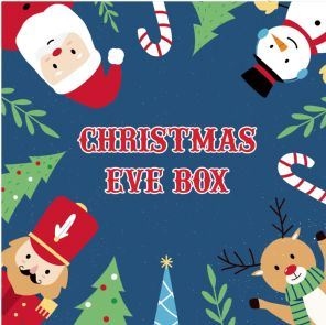 Christmas Eve Box Labels - Christmas Characters - Vinyl Label 150mm x 150mm